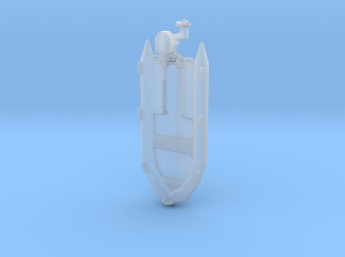 USCG RHIB Pontoon Boat 3d printed