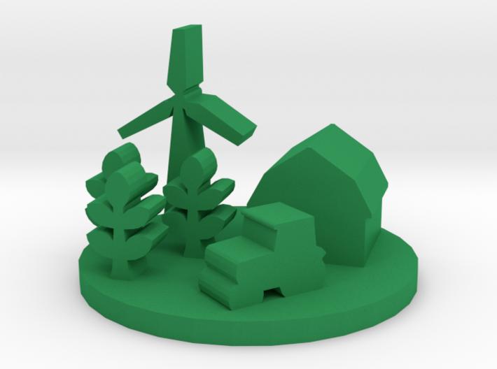 Game Piece, Farm 3d printed