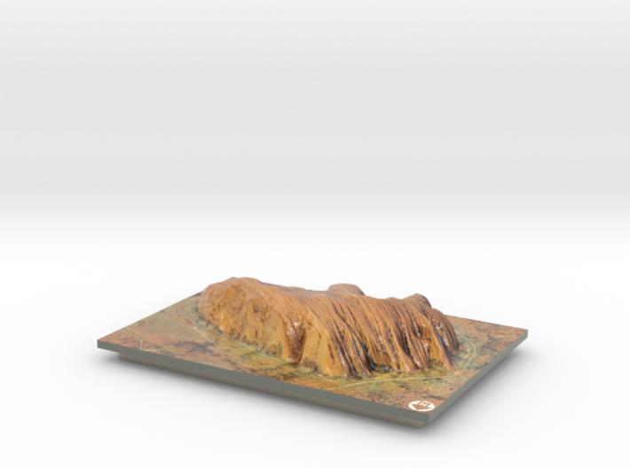Uluru / Ayers Rock Map 3d printed