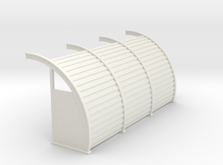 Quonset 3 6ft Panels 8ft - 72:1 Scale 3d printed