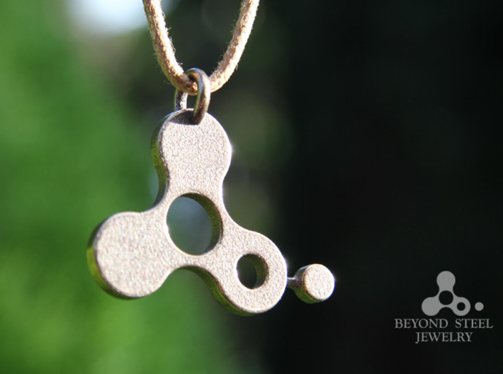 Beyond Steel Jewelry 3d printed Stainless Steel Finish