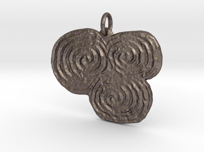 Newgrange Pendant 3d printed