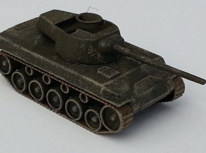 M18 Hellcat 1/87 12Apr2016 3d printed Painted, weathered and ready for rough handling on the war-gaming table