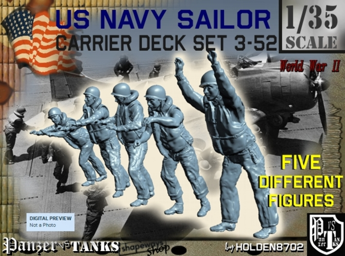 1-35 US Navy Carrier Deck Set 3-52 3d printed