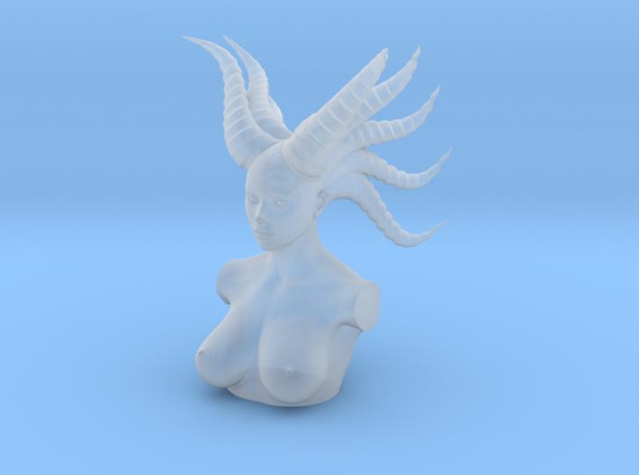 Long horn woman head in 5cm 3d printed