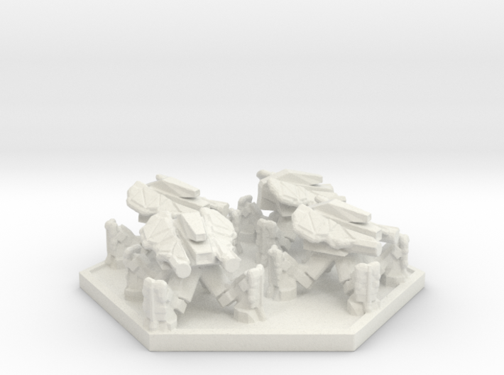 DF Anti Infantry Walker Squad (Hex) 3d printed