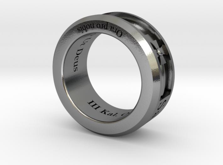 Saint Michael Ring Size 9 3d printed
