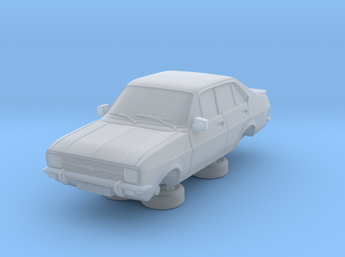 1:87 escort mk 2 4 door rs square headlights hollo 3d printed