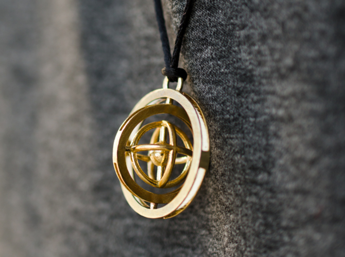 Double Rotating Planet - Time turner inspired 3d printed
