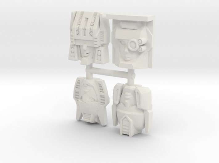 R63 Fembot Faces 4-Pack #1 3d printed
