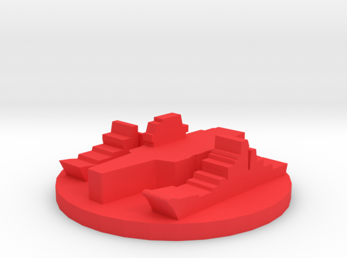 Game Piece, Red Force Navy Group 3d printed