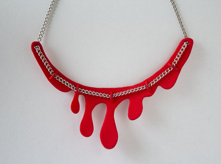 Drip Necklace 3d printed Chain not included.