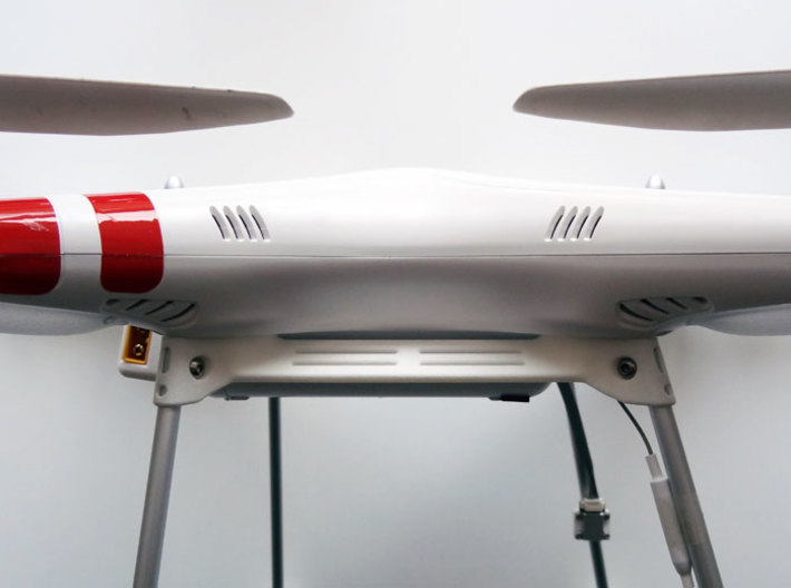 DJI Phantom Wide Battery Landing Gear 3d printed DJI Phantom Wide Battery Landing Gear side view