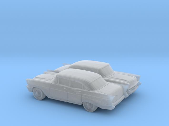 1/160 2X 1957 Chevrolet BelAir Sedan 3d printed