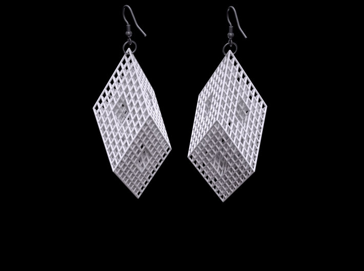 Mengerite Earrings 3d printed Preview