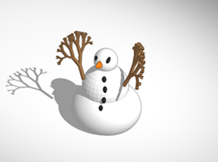 The Snowman revised and fixed 3d printed revised for printing