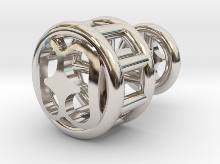 Bibi Wo Soro Lattice Cuff Link 3d printed