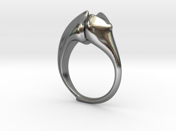 Beetle Horn Ring 3d printed