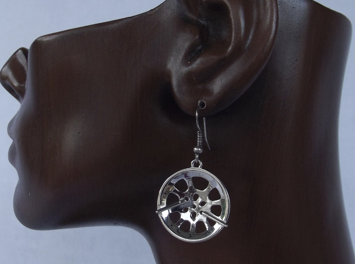 "Double Seconds ""essence"" steelpan earrings, S 3d printed"