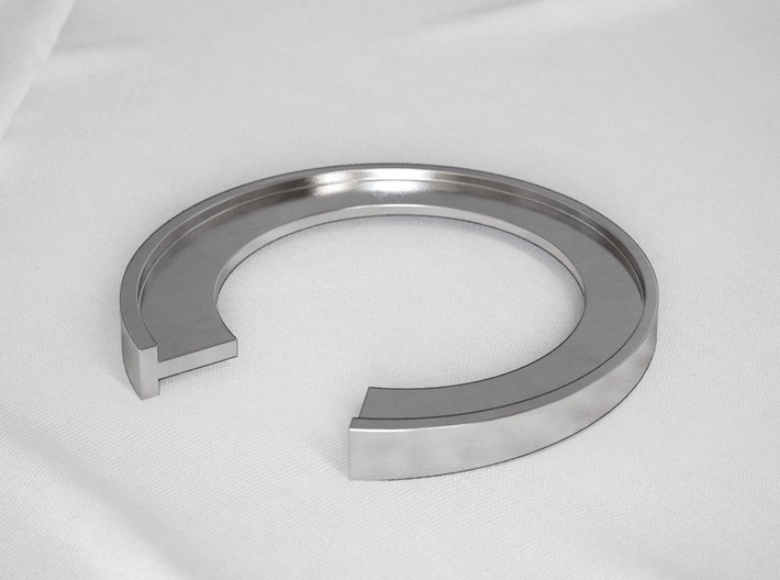 T Letter Ring 3d printed