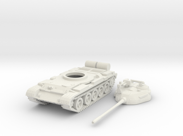 1/87 scale T-55 tank model 3d printed