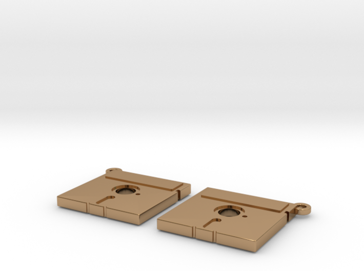 Floppy Earrings - 5inch - Hack the planet 3d printed