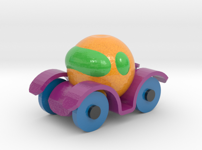 Orange Car V9 3d printed