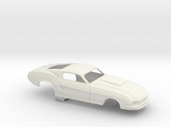 1/18 67 Pro Mod Mustang GT Stock Scoop 3d printed