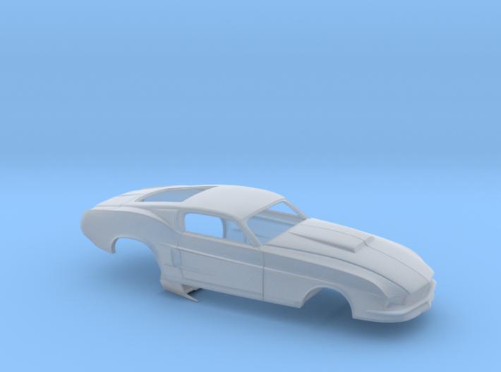 1/64 67 Pro Mod Mustang GT Stock Scoop 3d printed