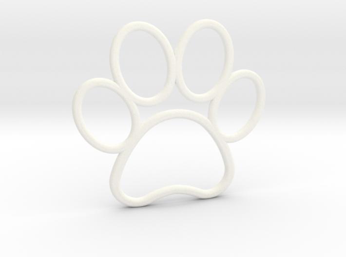 Paw Print Pendant - Large 3d printed
