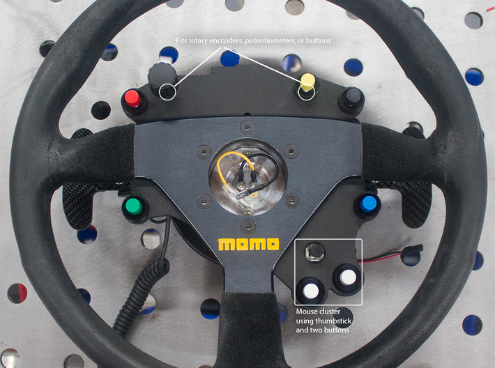 VR button plate for sim racing - 320mm wheel 3d printed