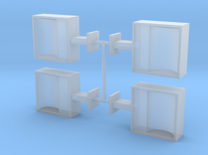 O Scale Floodlight (Set of 4) 3d printed