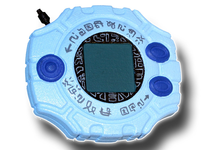 Digivice 3d printed Painted Prototype printed in White Strong & Flexible Polished