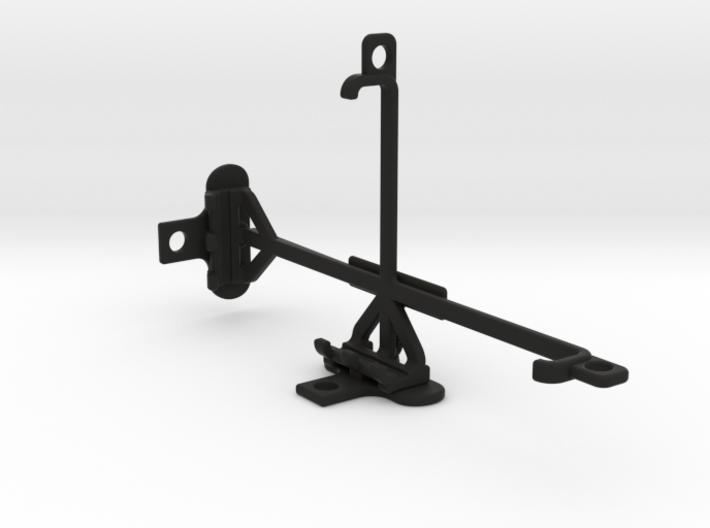 BLU Studio X8 HD tripod & stabilizer mount 3d printed