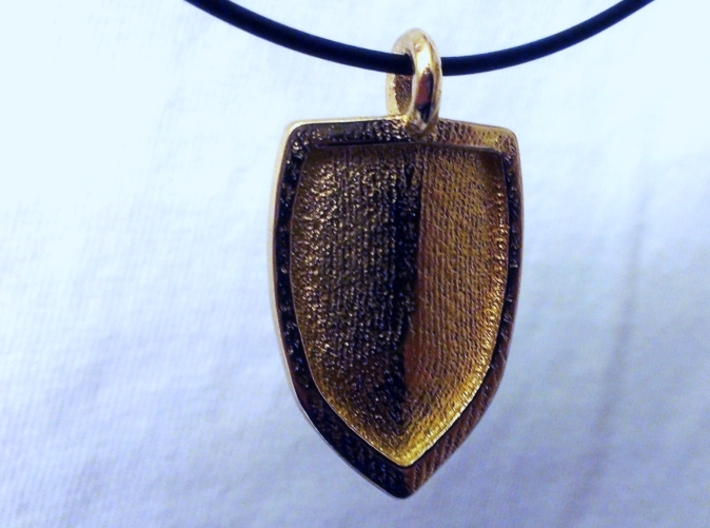 Strong Shield Pendant 3d printed