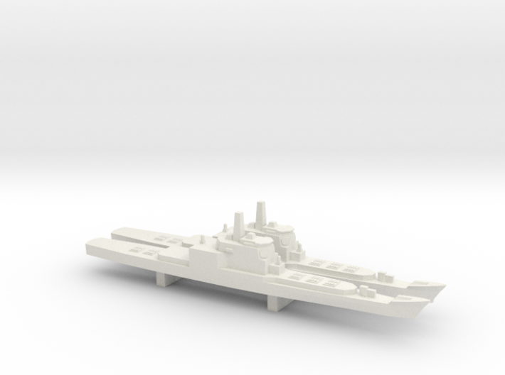 Aegis and VLS refitted Long Beach x 2, 1/3000 3d printed