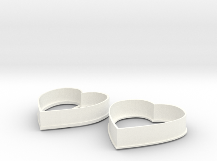 Heart cookie cutters 3d printed