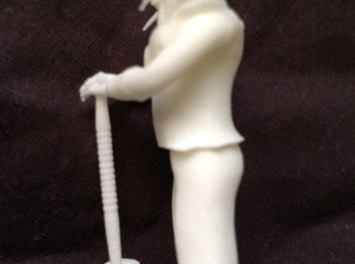 Dwarf1 3d printed an example of this miniature in white plastic