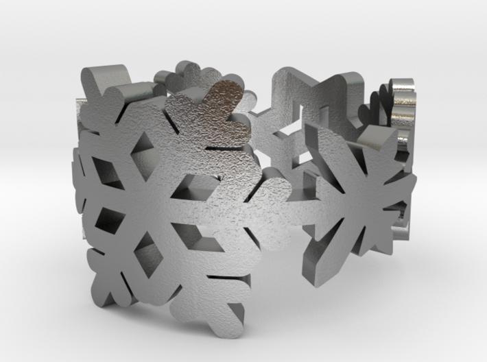 Snowflake Ring 3d printed