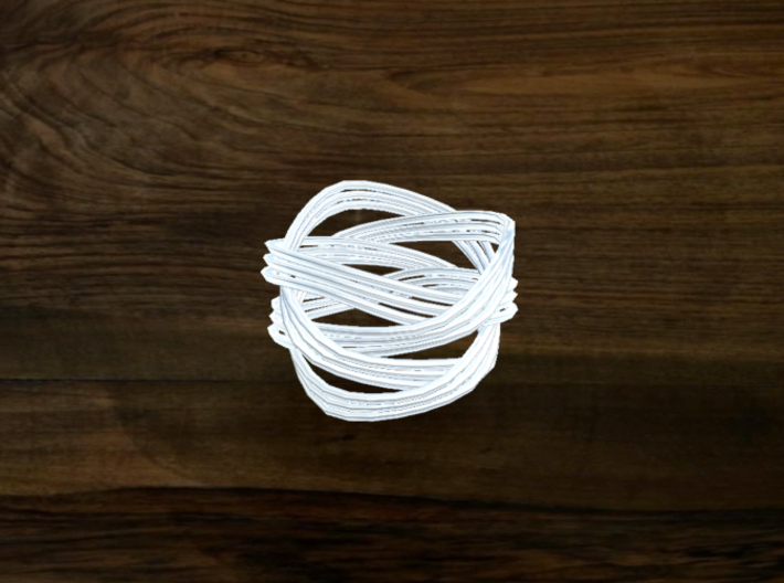 Turk's Head Knot Ring 4 Part X 3 Bight - Size 6 3d printed