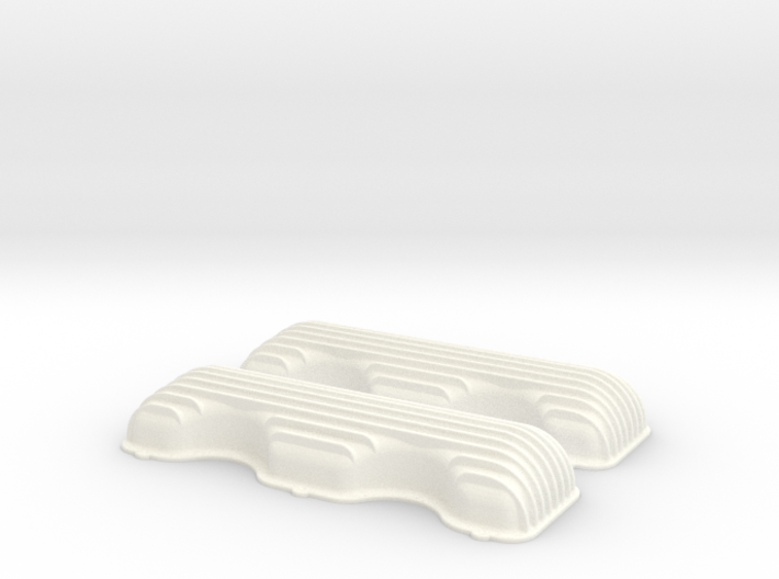 1/8 409 Finned Valve Covers File 3d printed