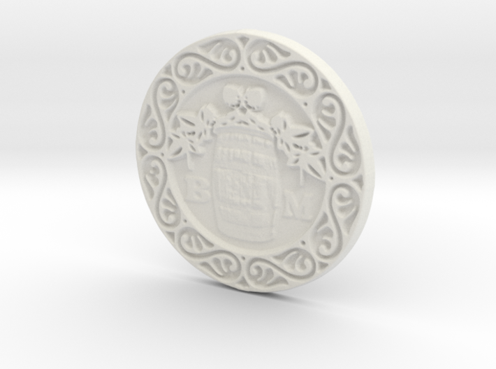The Brew Monks Medallion 3d printed