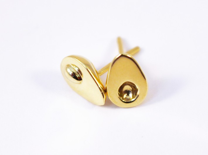 Avocado earrings for the food lover 3d printed