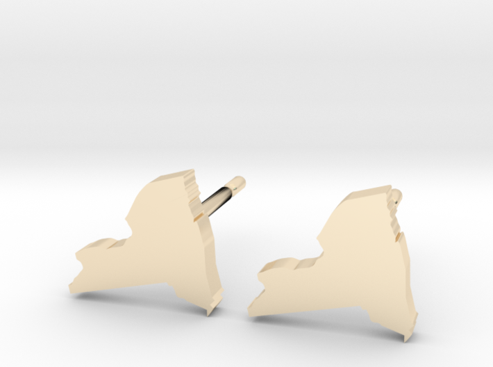 New York State Earrings, post style 3d printed