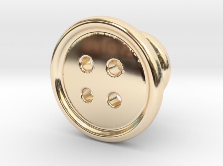 Button Tuxedo Stud - SINGLE 3d printed