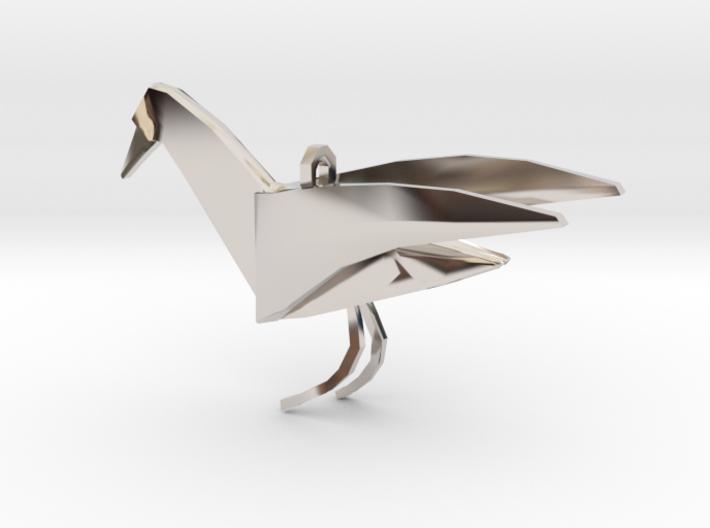 [The 100] Raven Pendant  3d printed