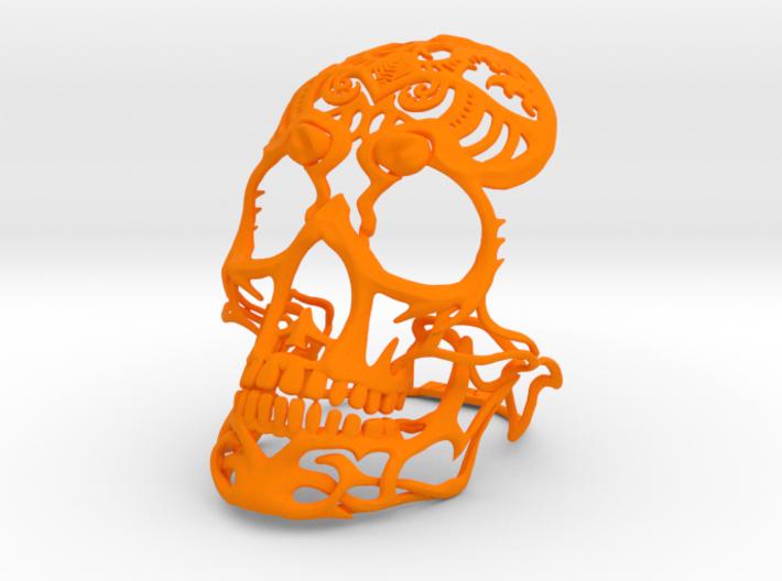 Skull sculpture Tribal Sugar 70mm 3d printed