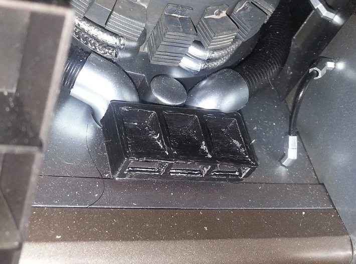 "For 1/6 ""Hot toys delorean"" rear detail 3d printed"