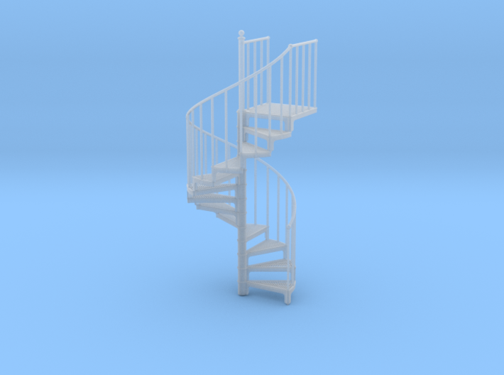 Industrial Spiral Staircase (Counter-Clockwise) 3d printed
