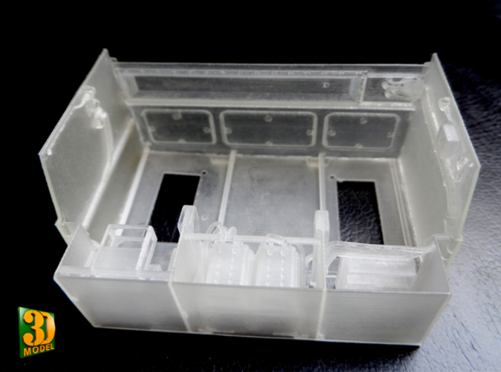 2S7 PION Crew Compartment (1:35) 3d printed 2S7 PION/MALKA crew compartment - actual print